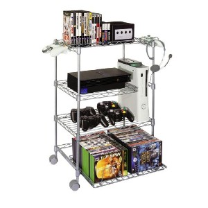 Gamekeeper 4 Tier Wire Gaming Tower - Silver Steel Wire (輸入版)