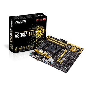 ASUS AMD A88X FCH チップセット搭載 MicroATX マザーボード A88XM-PLUS