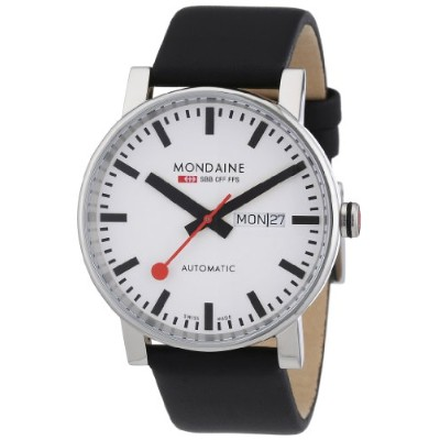モンディーン Mens Automatic Day/Date Display Watch A1323034811SBB