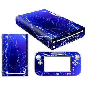 Nintendo Wii U Skin Design Foils Faceplate Set - Lightning Design