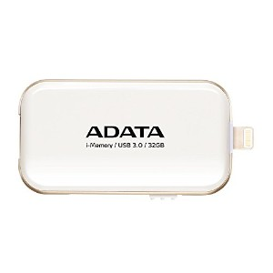 ADATA iPhone・iPad・iPod touch Lightning接続USB3.0メモリ UE710 32GB ホワイト AUE710-32G-CWH