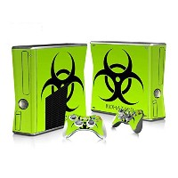 XBOX 360 Slim Skin Design Foils Faceplate Set - Biohazard Design