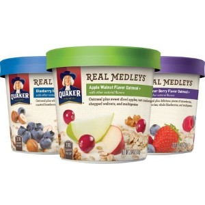 Quaker Real Medleys Instant Oatmeal Variety Pack Breakfast Cereal 70gx12個 インスタントオートミールバラエティパック朝食シリアル...