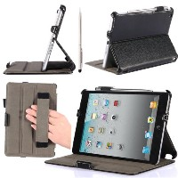 i-BLASON Heated Book Shell Stand Case for Apple iPad mini, Black - 並行輸入品