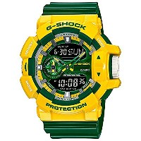 [カシオ]Casio 腕時計 GShock Crazy Colors Series Yellow Green Resin Shock Resistant Watch GA400CS9A...