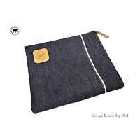 【HIDE&TALLOW】Salvage Denim Bag i padデニム素材ポーチ