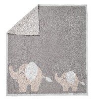 Barefoot Dreams Cozychic Follow Me Blanket [ #661 ] (カラー:Dove gray-Stone-Blue) [並行輸入品]