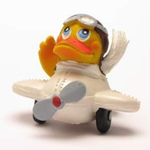 Airplane Rubber Duck - ゴム製のアヒル …
