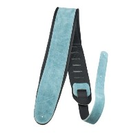 "Perri's (ペリーズ) APSDX-1605 Guitar Strap 2.5"" Turquoise Padded Suede Strap / 2.5インチ スウェードギターストラップ"