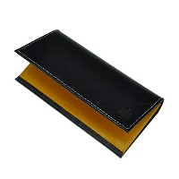 Whitehouse Cox / ホワイトハウスコックス 【Holiday Line】 S-9697 Long Wallet Black Regent×Yellow