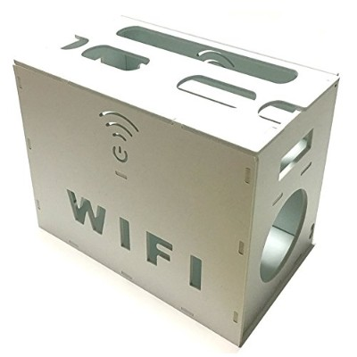 3world ルーター 電源 タップ ケーブル 収納ボックス 大 SW823 wi-fi