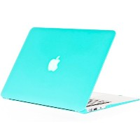 Kuzy - AIR 13-inch Teal / Turquoise Hot BLUE ゴム引きハードケース Case Cover Satin for NEW Apple MacBook Air...