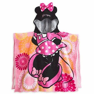 Disney(ディズニー) Minnie Mouse Clubhouse Hooded Towel For Kids ミニーマウス フード付きバスタオル [並行輸入品]
