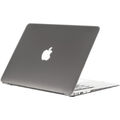 Kuzy - AIR 13-inch GRAY ゴム引きハードケース Case Cover SeeThru for Apple MacBook Air 13.3-inch (A1369 and...