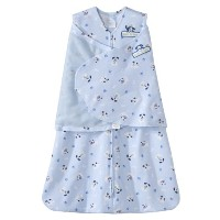 HALO 100% Cotton SleepSack Swaddle, Blue Pup Pals, Small by Halo