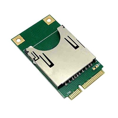 HOBBYPOWER ミニ PCI-E → SD SDHC TF MMC メモリカード リーダー アダプタas SSD PA-MR04