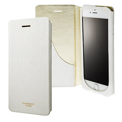 """GRAMAS FEMME """"Colo"""" Flap Leather Case for iPhone 6s / iPhone 6 グラマスファム 手帳型レザーケース ストラップ付き GRAMAS..."""