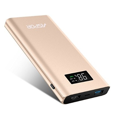 【Quick Charge 3.0】PZX 10000mAh 大容量 モバイルバッテリー QC3.0急速 + 2.4A 2つ出力ポート/iPhone/iPad/Android/Xperia各種対応 ...