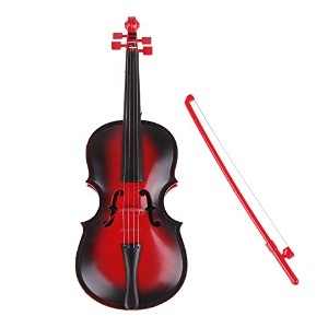 LuxBene(TM)Red kids Educational Creative Gift Toys Simulation Led Violin Musical Toy