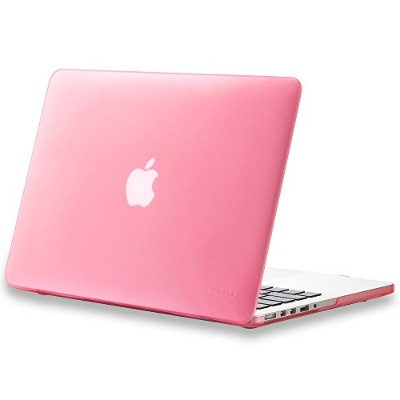 "Kuzy - Retina 13-Inch Rose PINK ゴム引きハードケース for MacBook Pro 13.3"" with Retina Display A1502 / A1425 ..."