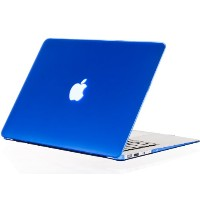 """Kuzy - AIR 13-inch BLUE ゴム引きハードケース Case Cover SeeThru for Apple MacBook Air 13.3"""" (A1369 and A1466)..."""