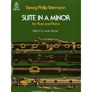 Georg Philipp Telemann: Suite In A Minor For Flute And Piano. Partitions pour Flûte Traversière,...