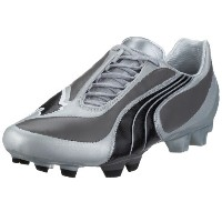 Puma V3.08 i FG Mens Leather Soccer Boots / Cleats-Silver-25.5