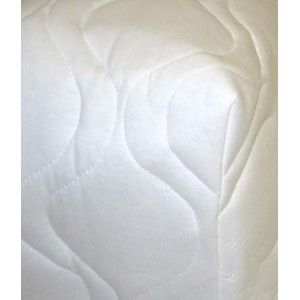 SheetWorld Fitted Pack N Play (Graco) Sheet - White Quilted - Solid Colors by sheetworld
