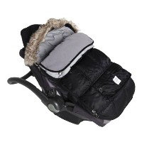 7AM Enfant Le Sac Igloo Footmuff, Converts into a Single Panel Stroller and Car Seat Cover - Black,...