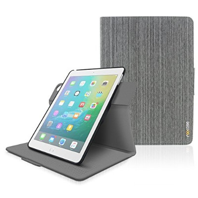 iPad Air 2 / Air 1 Case - roocase Orb 360 Rotating Folio Leather Cover with Sleep / Wake for Apple...
