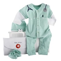 Baby Aspen, Baby M.D. Three-Piece Layette Set in Doctor's Bag Gift Box, 0-6 Months by Baby Aspen