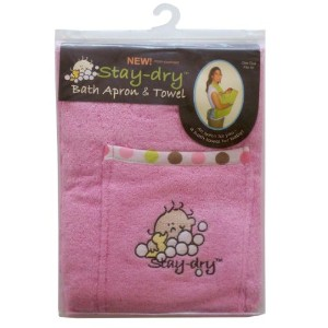 Stay-Dry Bath Apron and Towel, Pink by Stay Dry