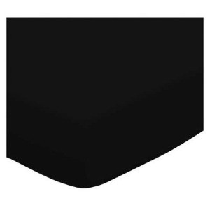SheetWorld Fitted Pack N Play (Graco) Sheet - Solid Black Jersey Knit - Made In USA by sheetworld
