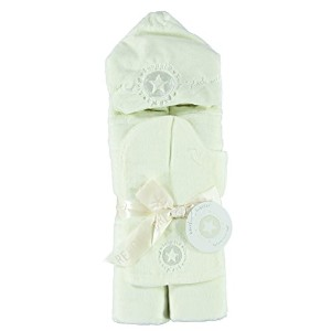 Barefoot Dreams Hooded Towel Set - Cream by Barefoot Dreams