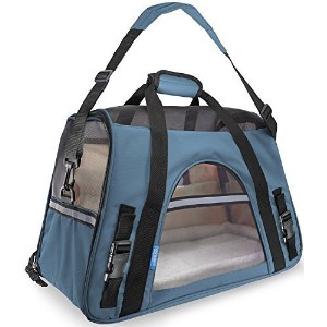 OxGord Airline Approved Pet Carriers w/ Fleece Bed For Dog & Cat - Large, Soft Sided Kennel - 2016...