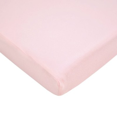 American Baby Company 100% Supreme Cotton Jersey Knit Fitted Portable/Mini Crib Sheet, Pink by American Baby Company