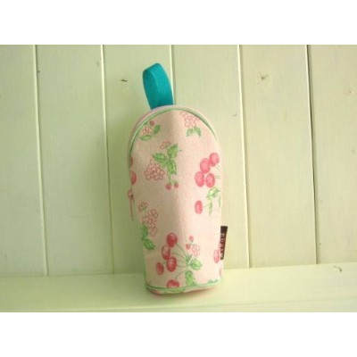 Ehako*・・feeding bottle Case CHERRY PINK