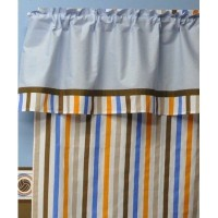 Mod Sports Stripes Curtain Panel by Bacati