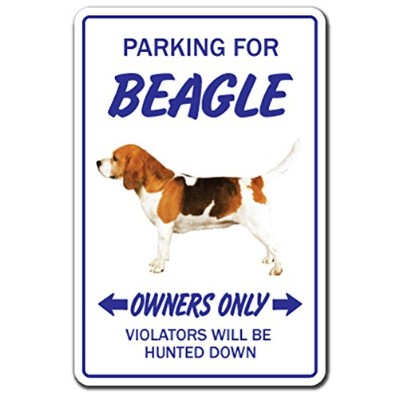 PARKING FOR BEAGLE OWNERS ONLY サインボード:ビーグル オーナー専用 駐車スペース 標識 看板 MADE IN U.S.A [並行輸入品]
