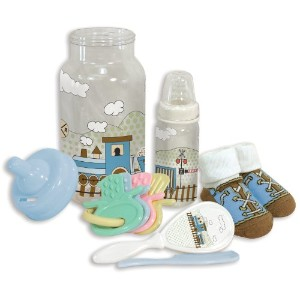 Stephan Baby Bottle Bank Gift Set, Train Time by Stephan Baby