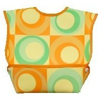 Dex Baby Dura Bib Crum Catcher - Geo Bib, Green & Orange by DEX