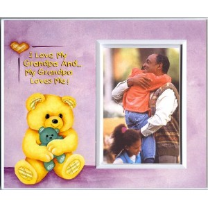 I Love Grandpa & Grandpa Loves Me! - Picture Frame Gift by Expressly Yours! Photo Expressions