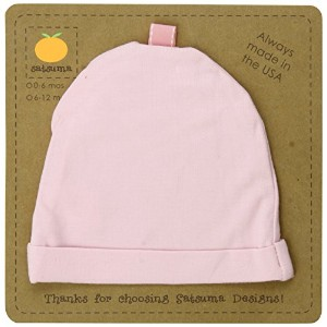 Satsuma Designs Jersey Infant Hat, Pink, 0-6 Months by Satsuma Designs