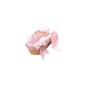 Baby Doll Bedding Primma Donna Moses Basket, Pink by BabyDoll Bedding