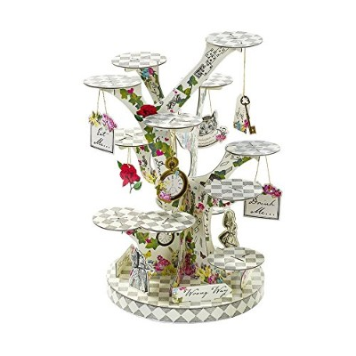 Talking Tables Truly Alice In Wonderland Treat Stand for A Teaパーティー、結婚式や誕生日、マルチカラー