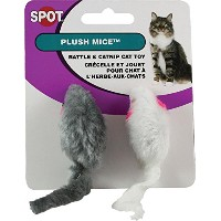 Ethical Products Spot Plush Mice Rattle & Catnip Interactive Durable Cat Toy 2pk