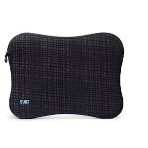 BUILT 17インチ  Neoprene Laptop Zippered スリーブ (Graphite Grid) [並行輸入品]