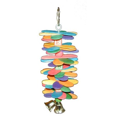 Super Bird Creations 8-1/2 by 3-Inch ABC Spoon Stack Bird Toy, Medium by Super Bird Creations
