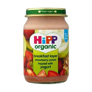 Hipp Organic Breakfast Layer Strawberry Cereal Topped with Yogurt 7mth+ - (160g) ( 160グラム) -...