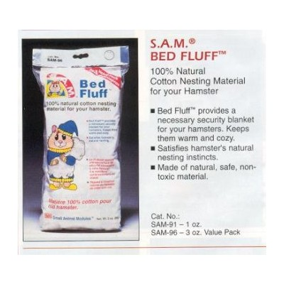 Penn Plax Bed Fluff for Small Animals, 3-Ounce by Penn-Plax